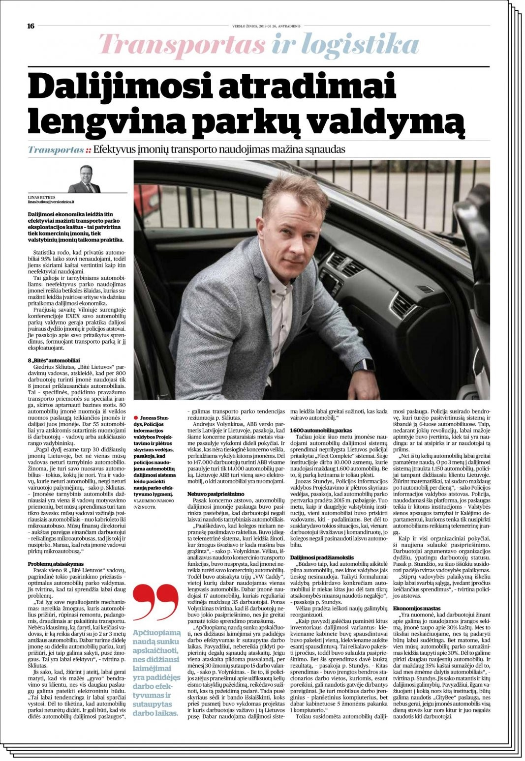 VZ lithuanian newspaper carsharing